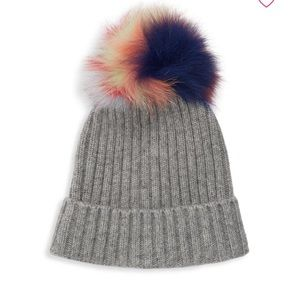 Brand new real fox fur winter Pom Pom hat